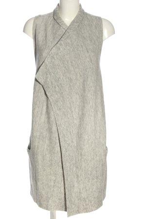 H&M Basic Gilet tricoté gris clair moucheté style décontracté