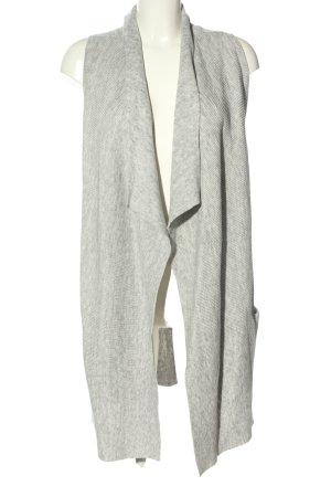 H&M Basic Chaleco de punto gris claro moteado look casual