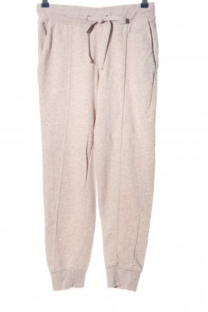 H&M Basic Pantalone fitness bianco-grigio chiaro puntinato stile casual