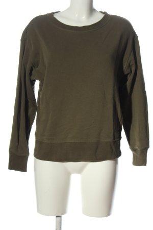 H&M Basic Sweatshirt khaki Casual-Look