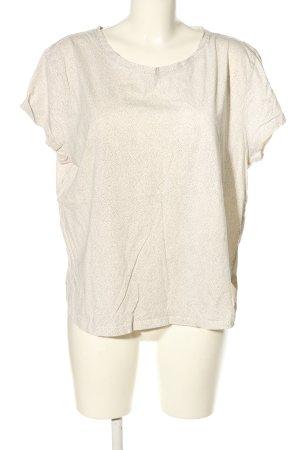 H&M Basic T-Shirt weiß-schwarz Allover-Druck Casual-Look