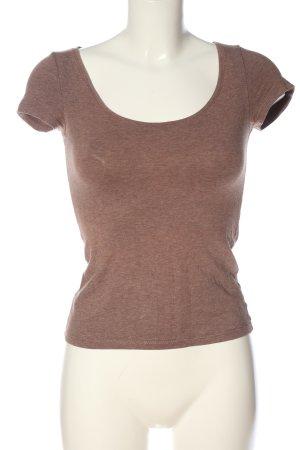 H&M Basic T-Shirt braun Casual-Look