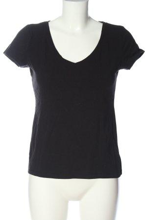 H&M Basic T-Shirt schwarz Casual-Look