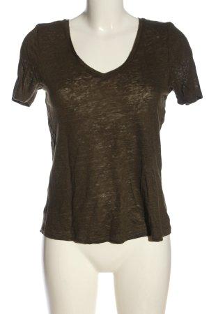 H&M Basic T-Shirt khaki meliert Elegant