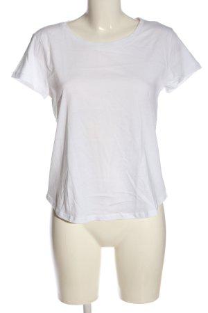 H&M Basic T-Shirt weiß Casual-Look