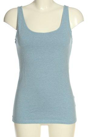 H&M Basic Tanktop blau meliert Casual-Look