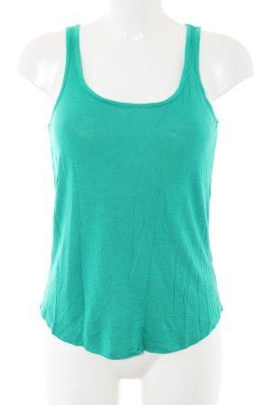 H&M Top basic verde stile casual