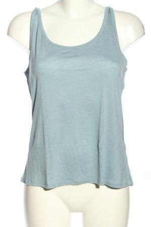 H&M Basic Top blau Casual-Look