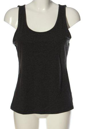 H&M Basic Top schwarz meliert Casual-Look