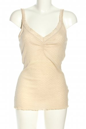 H&M Basic Top creme Allover-Druck Casual-Look