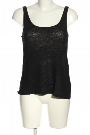 H&M Top basic nero puntinato stile casual
