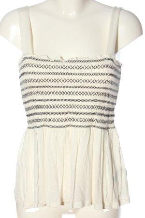 H&M Basic Top weiß-schwarz Casual-Look