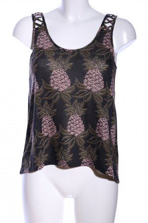 H&M Basic Top Allover-Druck Casual-Look