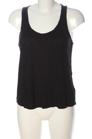 H&M Basic Top schwarz Casual-Look