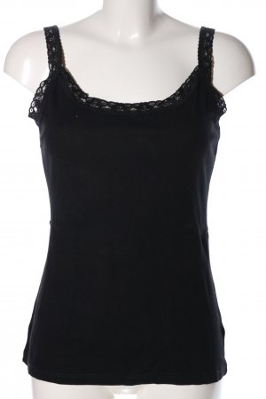 H&M Basic Top schwarz Business-Look
