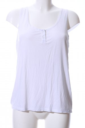 H&M Basic Top weiß Casual-Look