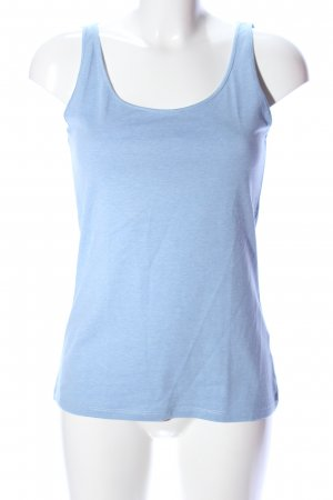 H&M Basic Top blau meliert Casual-Look