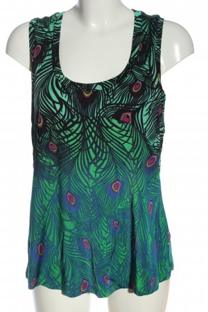 H&M Basic topje groen-blauw volledige print casual uitstraling