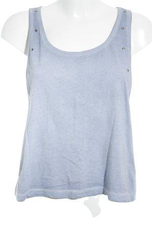 H&M Basic topje korenblauw straat-mode uitstraling