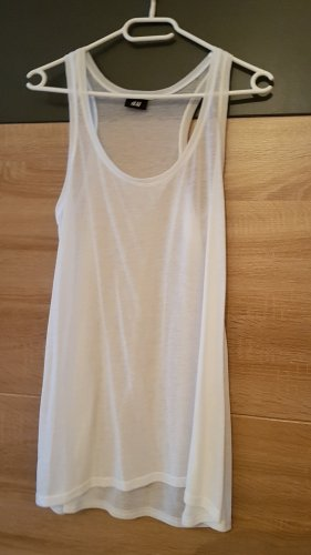 H&M Basic Top Weiß Gr.M