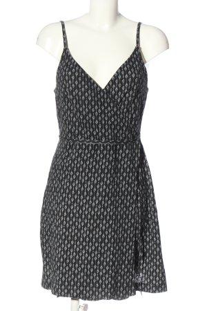 H&M Basic Trägerkleid schwarz-hellgrau abstraktes Muster Casual-Look