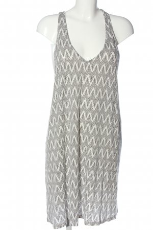 H&M Basic Trägerkleid weiß-schwarz Allover-Druck Casual-Look