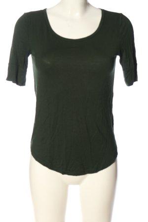 H&M Basic U-Boot-Shirt braun Casual-Look