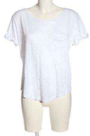 H&M Basic Koszulka z dekoltem w łódkę biały W stylu casual