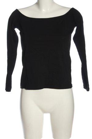 H&M Basic U-Boot-Shirt schwarz Casual-Look