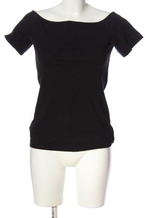 H&M Basic Top épaules dénudées noir style décontracté