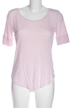 H&M Basic U-Boot-Shirt pink Casual-Look