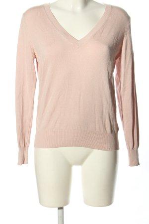 H&M Basic V-Ausschnitt-Pullover creme Casual-Look