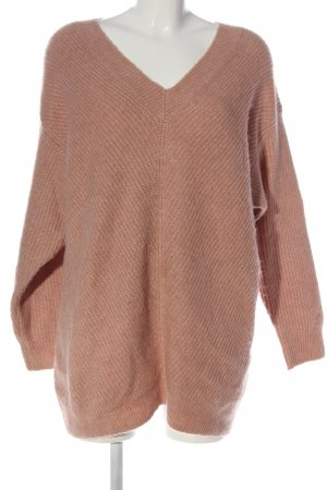 H&M Basic V-Ausschnitt-Pullover pink Casual-Look