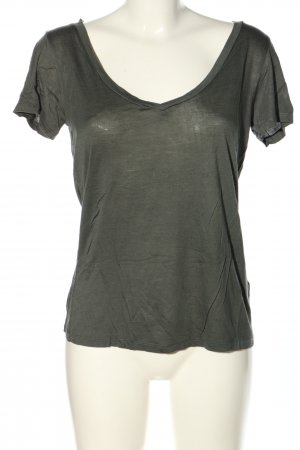 H&M Basic T-Shirt hellgrau Casual-Look
