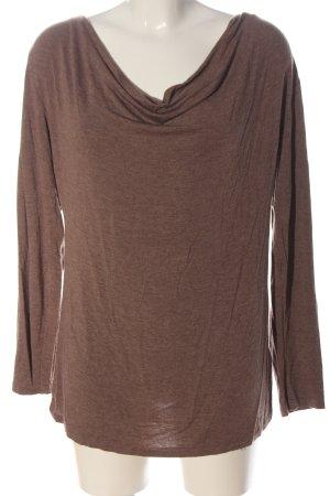 H&M Basic Top col bénitier brun moucheté style décontracté