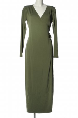 H&M Basic Wickelkleid khaki Elegant