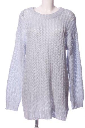 H&M Basic Wollpullover blau Casual-Look