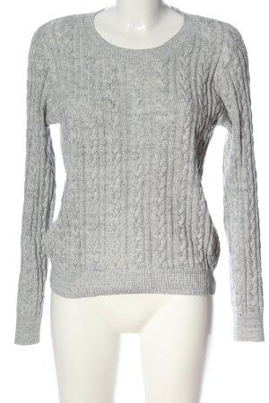 H&M Basic Jersey trenzado gris claro punto trenzado look casual