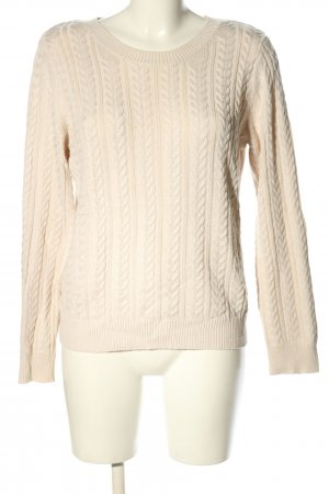 H&M Basic Cable Sweater natural white cable stitch casual look