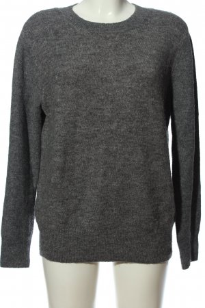 H&M Basic Cable Sweater light grey flecked casual look