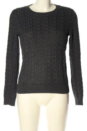 H&M Basic Jersey trenzado negro punto trenzado look casual