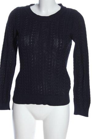 H&M Basic Jersey trenzado azul punto trenzado look casual