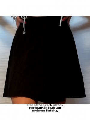 H&M Basic Skaterska spódnica czarny