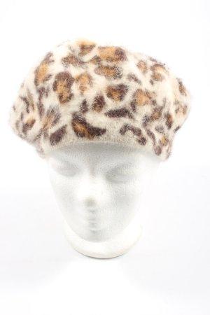 H&M Boina blanco puro-marrón estampado de leopardo look casual