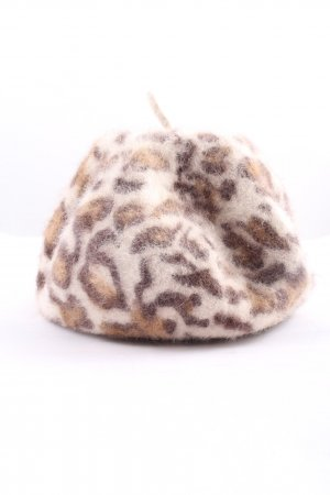 H&M Beret brown-cream leopard pattern casual look