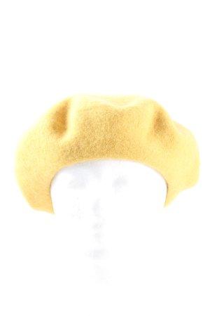 H&M Béret jaune primevère style décontracté