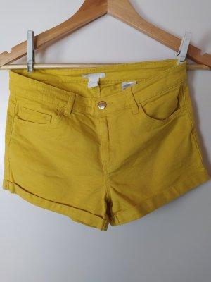H&M Baumwoll-Shorts, Sonnengelb, Gr. 34, US 4