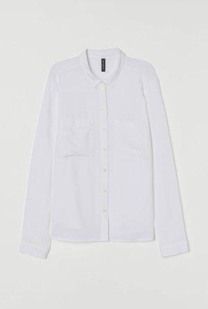 H&M Blusa-camisa blanco