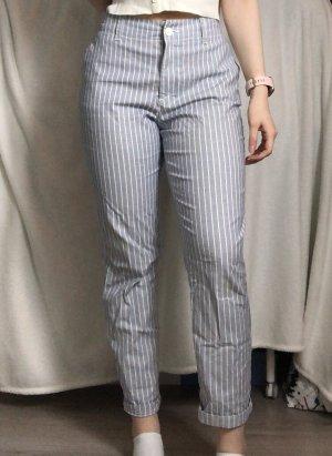 H&M Pantalone chino azzurro-bianco