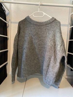 H&M Pull à gosses mailles gris clair